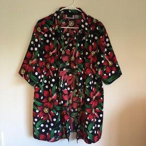 Women's Maggie Barnes Long Floral Printed Shirt